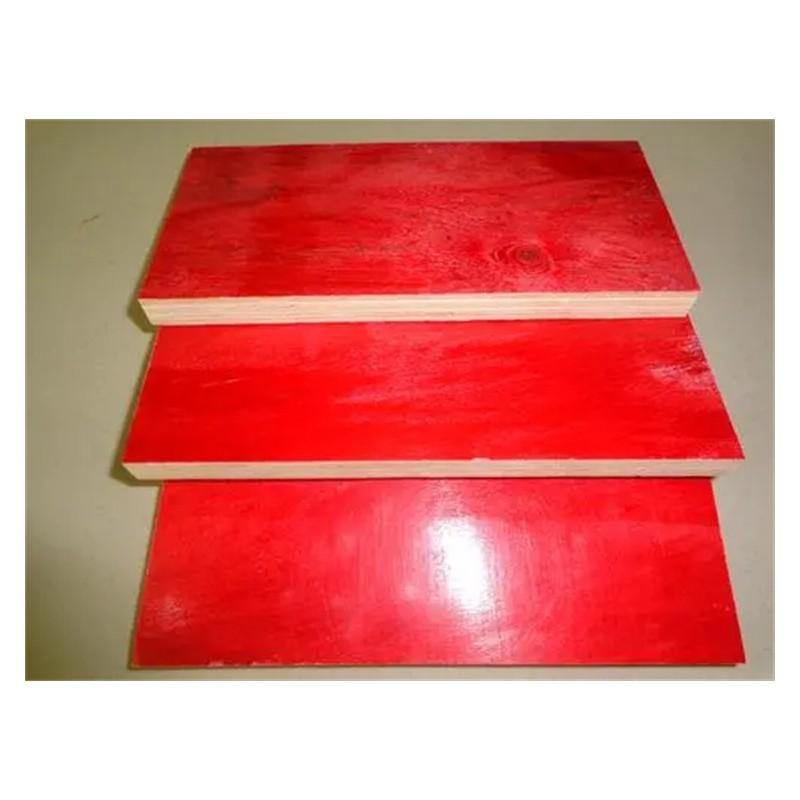 高层建筑工地用36尺10层建筑红板  柳州建筑模板价格  防水红膜板