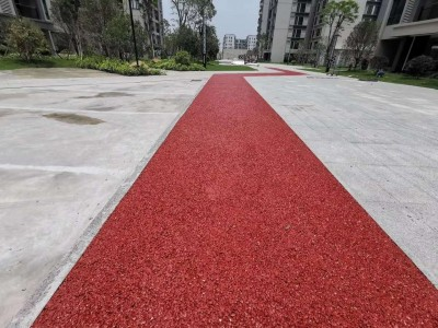 广西厂家直供彩色透水地坪混凝土路面