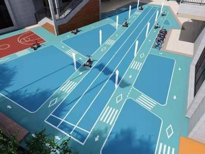 广西室内外篮球场硅PU场地施工 新国标弹性硅PU球场